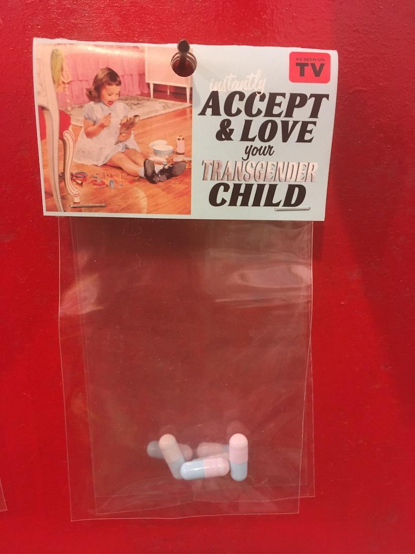Tirées de la pharmacopée de Dana Wyse, ces pilules sont à prendre si vous voulez pouvoir accepter et aimer votre enfant transgenre. Un humour sarcastique qui fait grincer des dents...